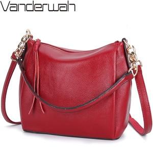 Image 1 - Crossbody Bags For Women Soft Leather Handbags Vintage Women Shoulder Messenger Bags Designer Sac Top handle Bag Bolsas Feminina