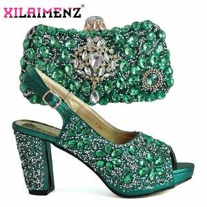 Image 3 - 2019 クリスマス制限アフリカ女性靴マッチング緑色高品質のイタリアの女性快適なためパー