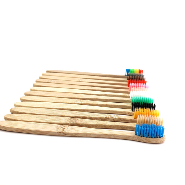 12 pcs/Pack Natural Pure Bamboo Toothbrush table Soft Hair Tooth Brush Eco Friendly Brushes Oral Cleaning Care Tools 1