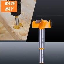 цена на waveway 16mm-35mm Forstner Tips Woodworking Tools Boring Wood Working Hole Opener Saw Cutter Hinge Drill Bit Bits Round Shank