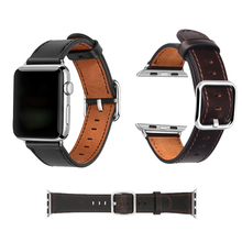 цена на 7 Color Hot Sell Leather Watchband for Apple Watch Band Series 4/3/2/1 Sport Bracelet 42 mm 38 mm Strap For iwatch 4 Band