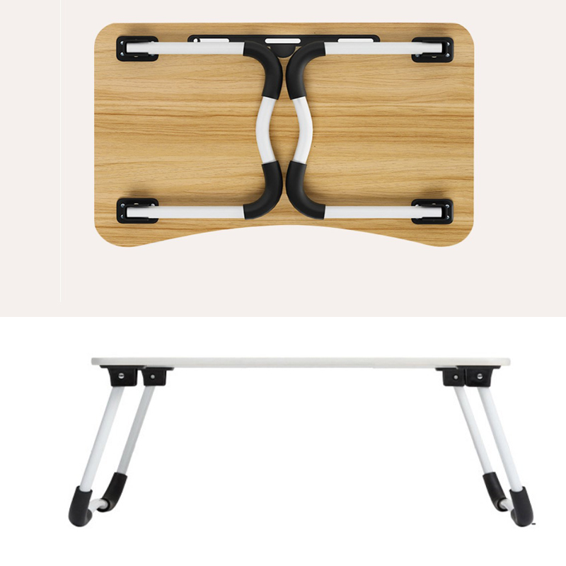 1pair Folding Table Legs Use Laptop Anti Slip Pad On Bed Outdoor Portable Small Dining Table Support Leg Bracket Accessories