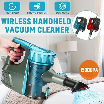 Handheld 2-in-1 Vacuum Cleaner Home Wireless Cordless Vacuum Cleaners Portable Carpet Dust Collector Quadruple Filtration System