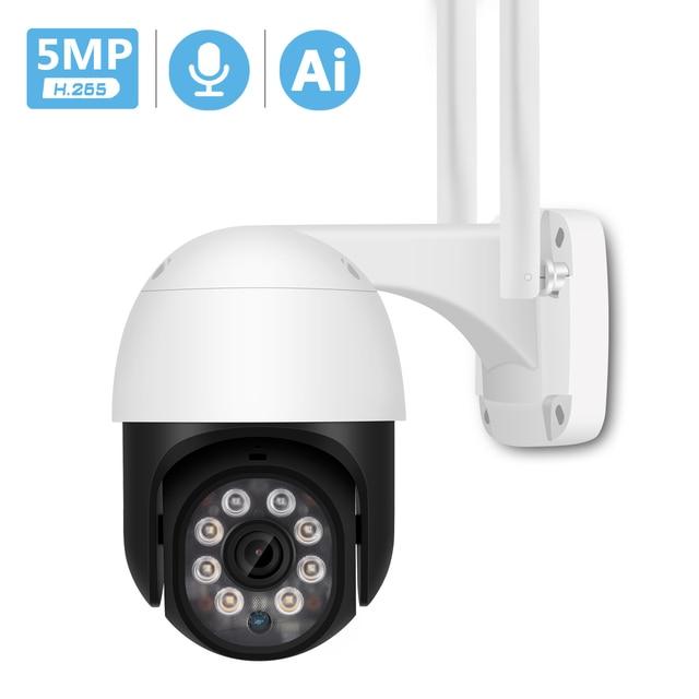 5MP HD PTZ Wifi Camera IP Outdoor Ai Human Detect Audio 1080P FHD IP Camera Color Night Vision 3MP Wifi Security CCTV IP Camera 1