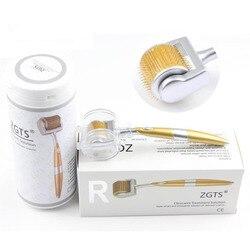 Agulhas titanium profissionais do rolo 192 do derma de zgts para o cuidado da cara e o certificado do ce do tratamento da perda de cabelo provaram