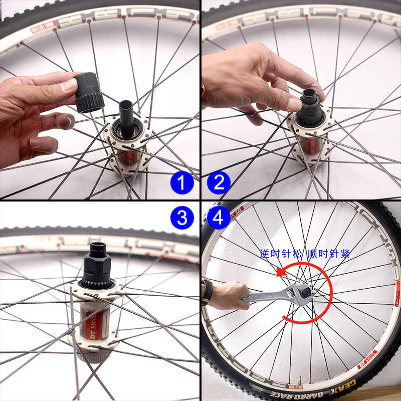 Universal rays wrench 6 sizes-dismantle tool mtb road bike rim wheel