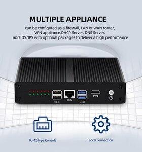 Image 3 - Intel Core i3 5010U 4010U חומת אש מכשיר מיני מחשב 6 Gigabit LAN Intel i211AT NIC AES NI 4G LTE WiFi 4 * USB HDMI RJ45 קונסולה