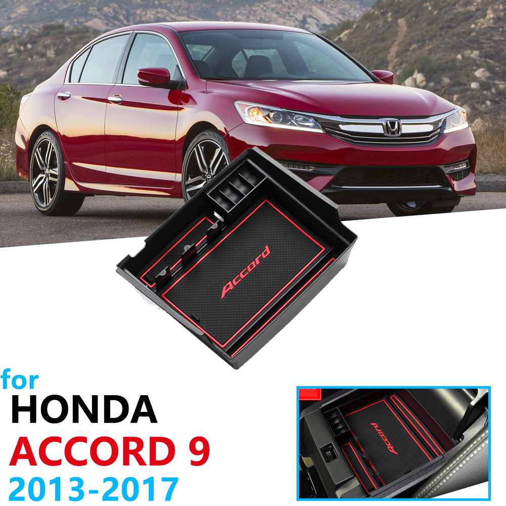 Car Organizer Accessories For Honda Accord 9 9.5 2013 ~ 2017 IX Armrest Box Storage Stowing Tidying 2014 2015 2016 2017 Coin Box