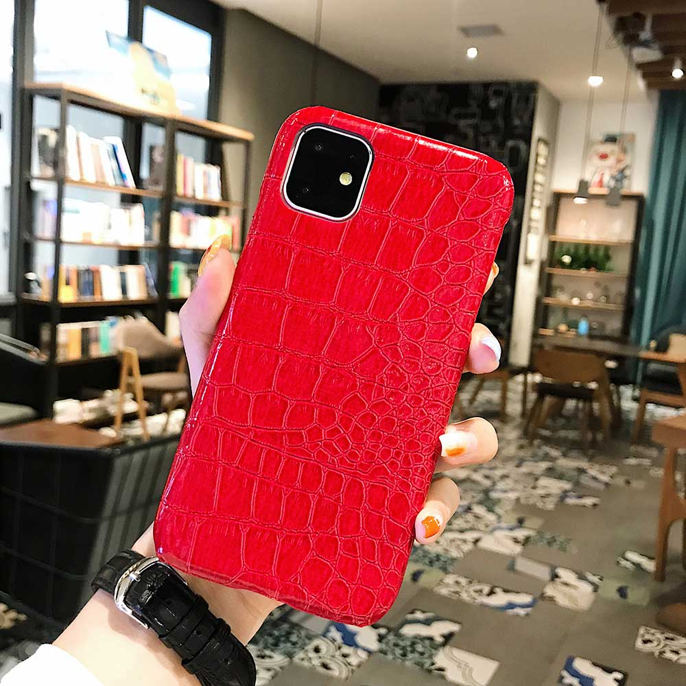 Fashion Cool Crocodile Snake Skin Cover Case With Hybrid Rubber Cape For iPhone Xs Max 19