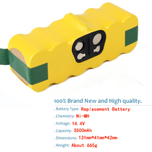 PALO 3500mAh 14.4V Battery for iRobot Roomba 500 600 700 800 900 Series Vacuum Cleaner iRobot roomba 600 620 650 700 770 780 800
