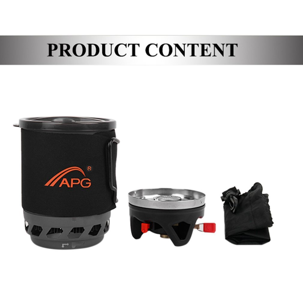 APG 1400ML Compact Size Outdoor Camping Gas System Gas Stove Furnace Fires Heat Cooking System Device