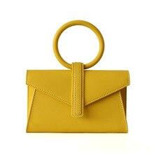 Genuine Leather Women Bag Luxury Design Crossbody Bag Ladies Envelope Bags Waist Pack With Circle Handle Ladies Handbag Tote Bag все цены