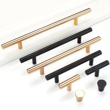 Simple Style Furniture Bedroom Closet Drawer Handle, Aluminum Alloy Modern Cabinet Shoe Rack Pull, Gold Locker Wine Cabinet Knob(China)