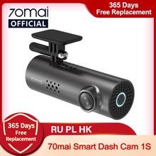 70mai coche DVR 1S APP y voz en Inglés Control 70mai 1S 1080P HD noche visión 70mai 1S Cámara de salpicadero era grabadora WiFi 70mai cámara de salpicadero
