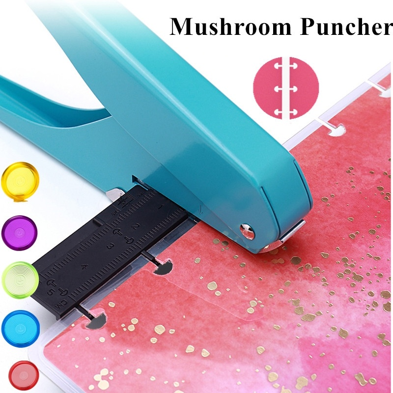 Professional Mushroom Hole Punch Manual Paper Punches With Ruler Paper Cutter Hole Puncher  A1911-10