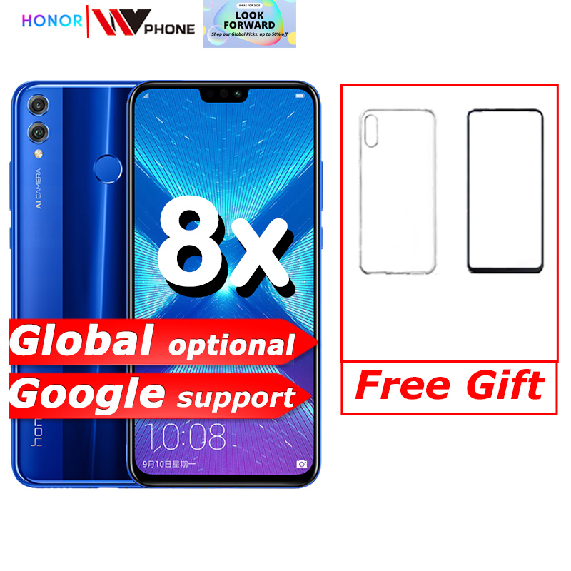 Honor 8X Smartphone Mobile Phone 6.5'' Full Screen OTA Update Smartphone Mobile Phone Android 8.1 Octa Core Fingerprint ID