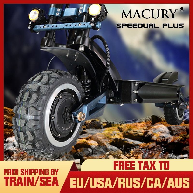 Macury Speedual Plus 11 Inch Dual Motor Electric Scooter 72V 3200W Off road E scooter 110km/h Double Drive Zero 11X  Off Road Electric Scooters     - title=