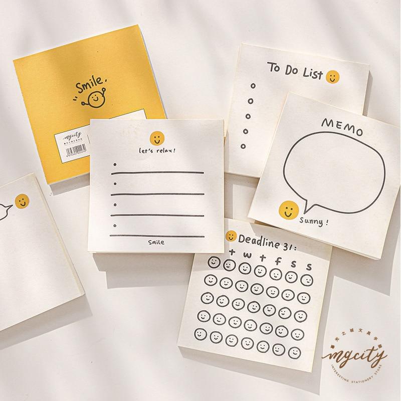 My Smile Sunshine Check List Memo Pad 50 Sheets 80mm*80mm