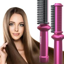 Usb-Curler-Brush Hair-Straightener Tourmaline Ceramic Professional with Cable 30W