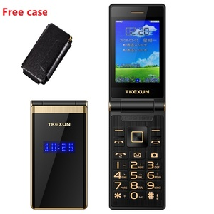 """Image 5 - TKEXUN мобильный телефон с откидным сенсорным экраном 3,0 """", дисплей, скорость телефонного звонка, металлический корпус, Senior, не умный"""