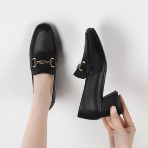Image 5 - New Fashion Spring Autumn Women Pumps 2019 Beige Black PU Leather Shoes Office Lady Designer Fashion Casual Shoes