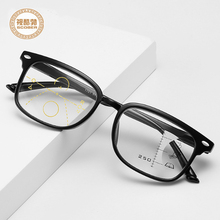 2019 Ultralight retro Progressive multifocal reading glasses men smart zoom women far near sight anti-blue Walking and Driving presbyopic