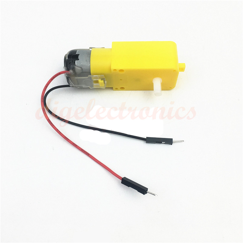 DC TT Motor With Male Cable 5V-10V Double Shaft DC Gear Dual Shaft Electric Motor  For Arduino DIY Model Robot Smart Car Toys