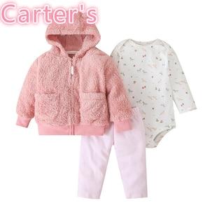 Carter's 3 pcs pink Baby Girl Outfits Babygirl Clothes Vestiti Bimba Recem Nascido Menina Ubrania Dla Niemowlaka New Born Girl