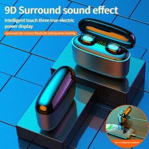 Image 4 - 9D auriculares inalámbricos con Bluetooth y pantalla Digital Led, auriculares deportivos con Control táctil y reducción de ruido para teléfono