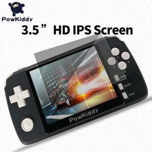 "Image 5 - Powkiddy q80 ريترو لعبة فيديو وحدة التحكم الهاتف 3.5 ""IPS الشاشة المدمج في 4000 ألعاب فتح نظام PS1 محاكاة 48G الذاكرة ألعاب جديدة"