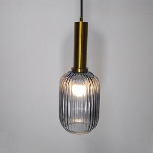 Image 3 - Color Pendant Lights Glass Hanging Lamp Green Gray Shade Kitchen Dining Room Bar Nordic Led Pendant Lamp Modern luminária E27