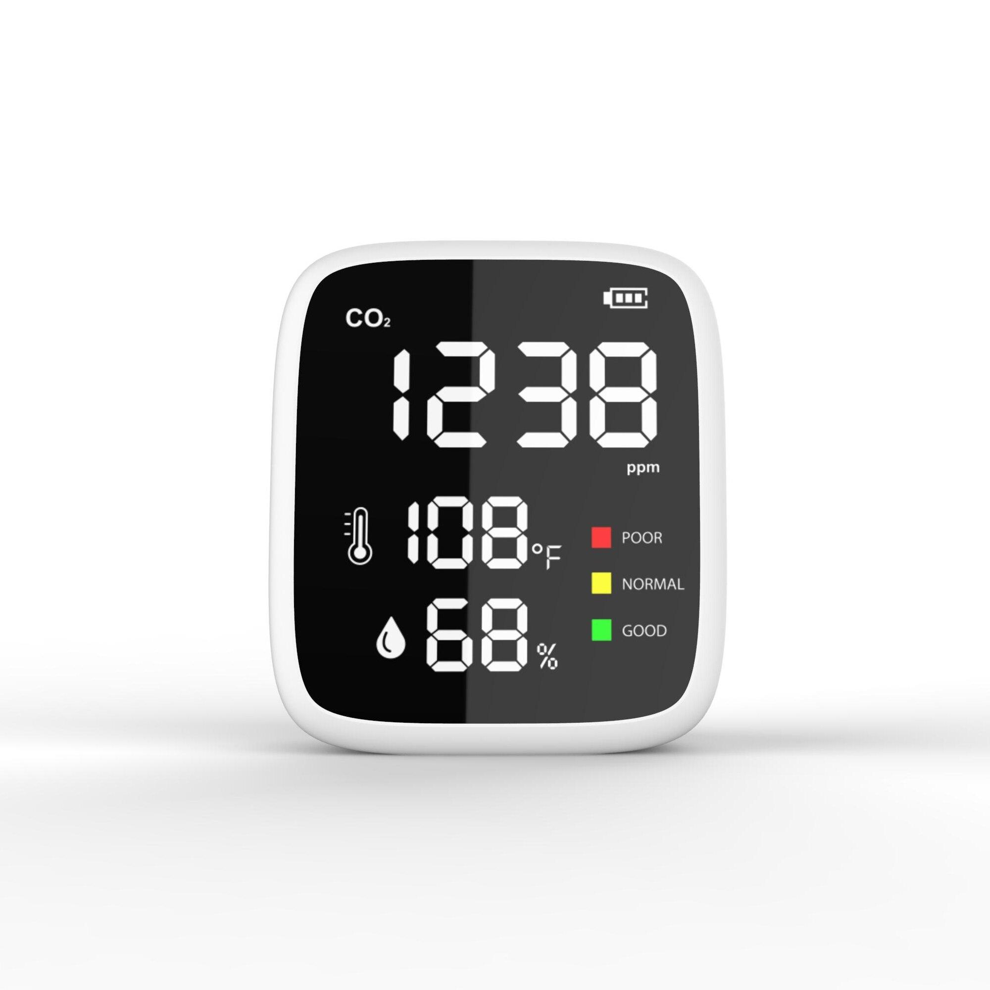 Портативный CO2 Температура влажности качество воздуха монитор инфракрасный NDIR детектор для дома и улицы средства обнаружения