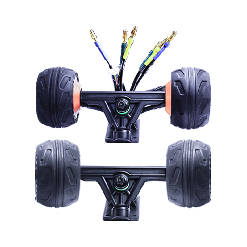 2019 New Flipsky Dual Hub Motor 10568 Truck Kit With Ruber Tires For DIY Electric Skateboard