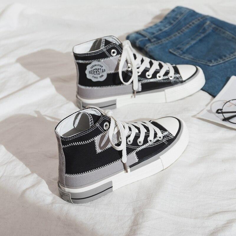 Women's Canvas Shoes 2020 New Women Sneakers Breathable Flats Women Sneakers Casual Trendy Colors Canvas Women's Vulcanize Shoes