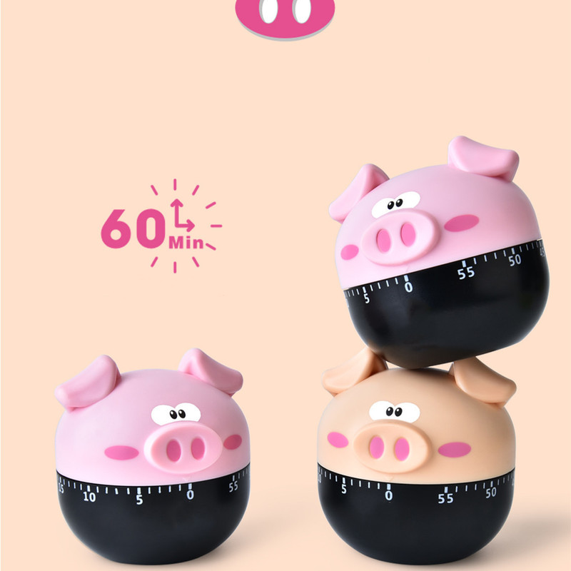 Alarm-Clock Machinery Kitchen-Timer Piglet Cooking Countdown Home Cartoon for Frying title=