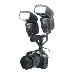Image 3 - Viltrox VL 125 125mm DSLR Triple Hot Shoe V Mount Flash Bracket for Video Lights Microphones Monitors to Cameras Camcorders