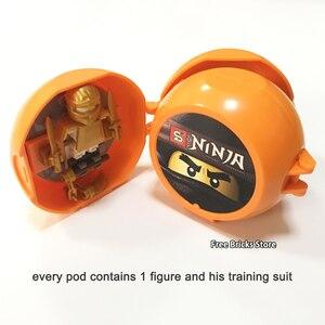 Image 3 - 8 ミニフィギュアパックセット sy ninjagoes 会ジェイにゃ剣道トレーニング忍者ポッドセット教育ビルディングブロックのおもちゃキッズギフト