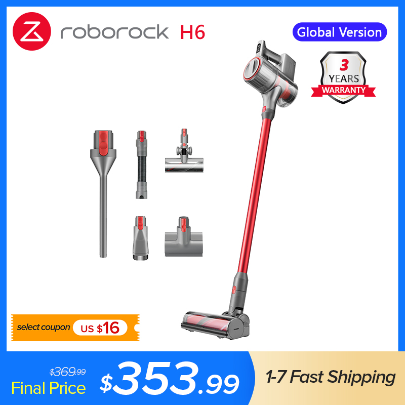 2020 Roborock H6 Adapt Cordless Vacuum cleaner150AW Strong Suction 420W Brushless Motor OLED Display Portable Wireless Handheld Vacuum Cleaners  - AliExpress