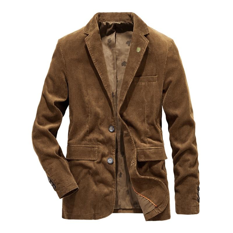 2019 New High Quality casual corduroy blazer men slim fit mens blazer jacket coat velvet mens suit jacket blazers plus size 4XL