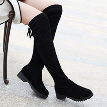 Sexy Thigh High Boots Women Winter 2019 Over The Knee Ladies Short Plush Black Fashion Platform