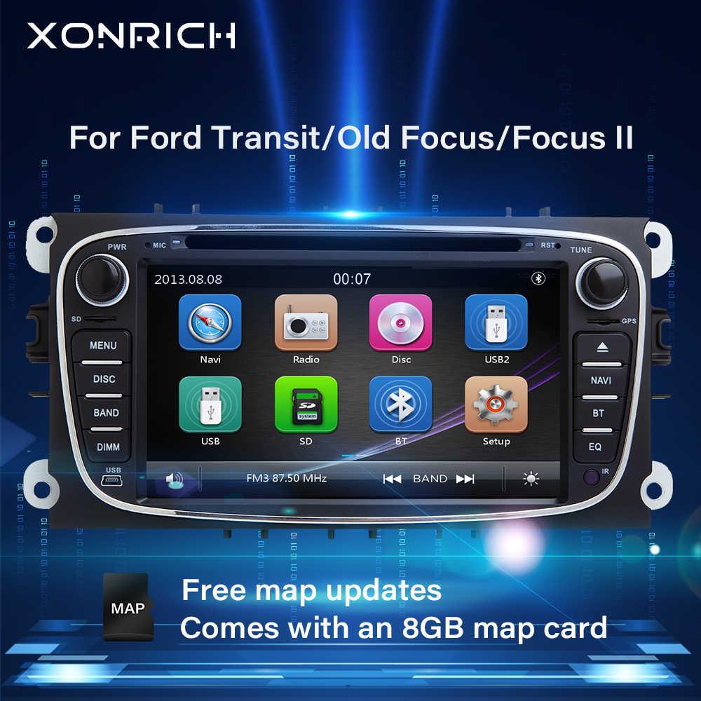 Xonrich AutoRadio 2 喧騒車の Dvd フォードフォーカス 2 S-Max C-Max モンデオ 4 トランジット connetGalaxy 久我 Multimeida GPS ナビゲーション