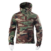 2020 Outdoor Tactical Hunting Coat Camo Hooded Jacket Anti scratch Wear resistant Combat Coat for Airsoft