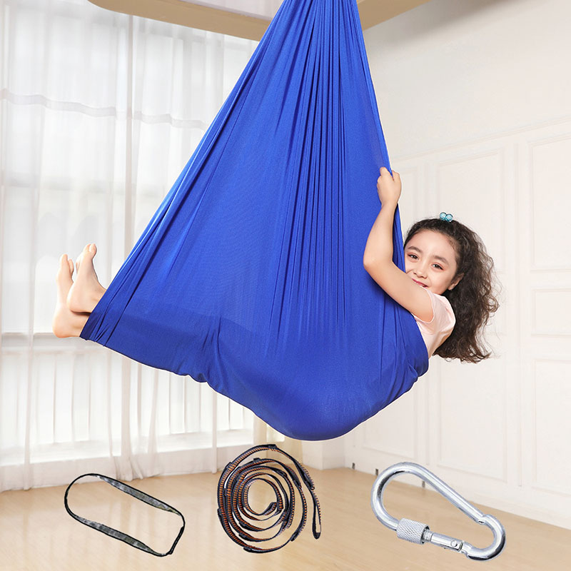 1m/1.5m Kids Cotton Outdoor Indoor Swing Hammock For Cuddle Up To Sensory Child Therapy Soft Elastic Parcel Steady Seat Swing