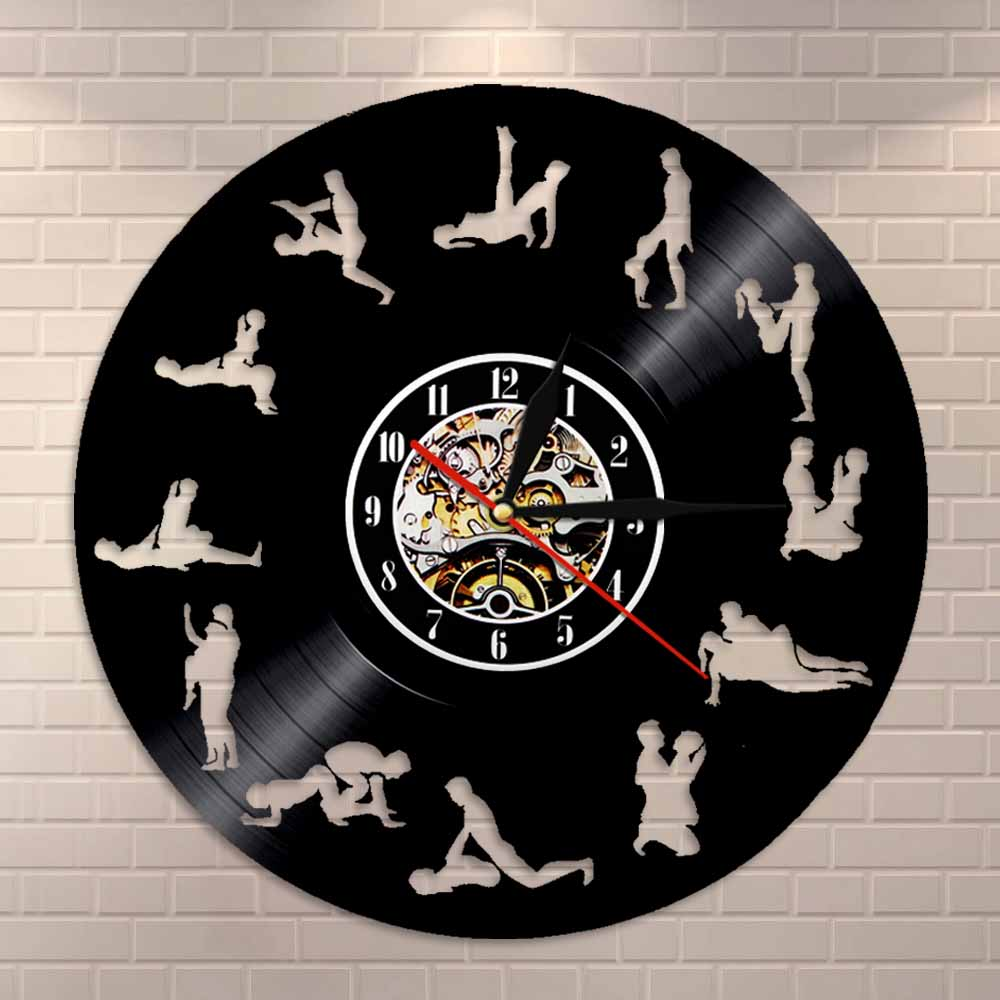 Mature Wall Art Living Room Wall Decor Clock 24 Hours Sex Positions Vinyl Record Wall Clock Kama Sutra Art Sex Love Wall Clock(China)