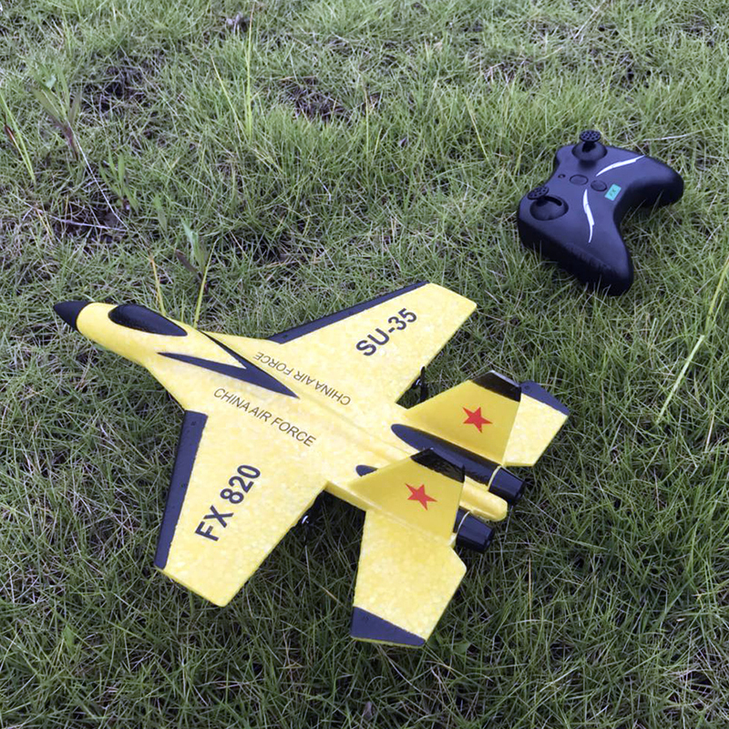 2.4G Glider Plane Hand Throwing foam drone SU35 RC airplane model Fixed wing toy aviones a control remoto juguete toys for boys(China)
