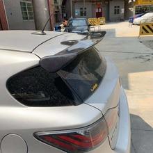 For Lexus CT200H 2012 2013 2015 Car Decoration Carbon Fiber Rear Trunk Roof Spoiler