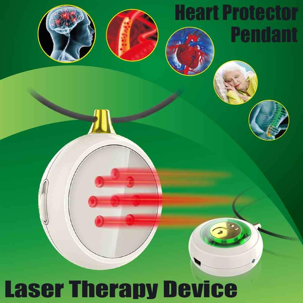 ОЕМ LASTEK сердце защита Кулон ожерелье Предотвращение церебрального тромбоза коронарной болезни стенокардия полупроводниковая лазерная те...