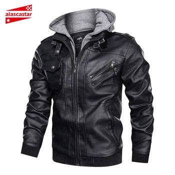 цена на New Motorcycle Jackets Vintage Retro male Mens leather jacket Classic Biker PU Leather Coat Moto Jacket Winter Motorbiker Jacket
