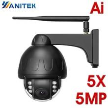 Ip-Camera Optical-Zoom Auto Tracking Wifi Speed-Dome ONVIF Night-Ai Human-Detection Waterproof
