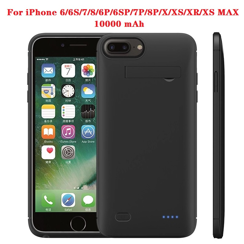 Hot 10000 Mah Power Bank Case Voor Iphone 6 6 S 7 Plus Case Batterij Oplader Voor Iphone X xs Xr 11 Pro Power Bank Opladen Case